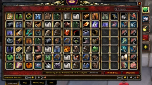 Ambermist's Messy Guild Bank: Tab 1