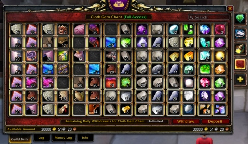 Ambermist's Messy Guild Bank -- Tab 4